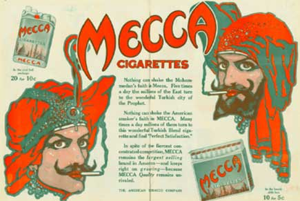 Poster of the Mecca cigarrettes