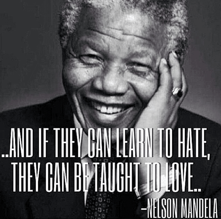 Photo of Nelson Mandela with a quote of him.